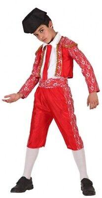 Boys Girls Spanish Matador Bull Fighter World Fancy Dress Costume Outfit 3-12yrs - Boys Matador Costume