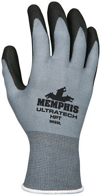 12pr MCR Safety UltraTech PVC Dip Stretch Nylon HPT General Purpose Gloves ()