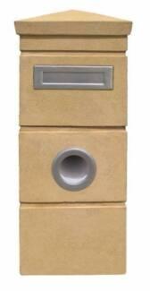 Kingston Reinforced Concrete Pillar Letterbox - Sand Colour