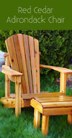 Handcrafted Adirondack Chair w/ottoman