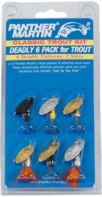 Panther Martin 6 Pack Trout Spinner Kit, CT6