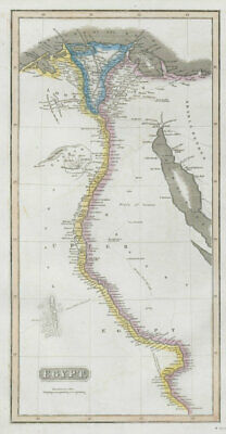 Egypt. Nile Valley. Eyles Irwin's 1777 route from India. THOMSON 1830 old map