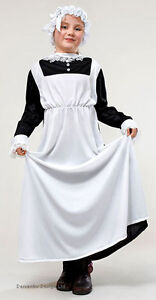 GIRLS-VICTORIAN-EDWARDIAN-MAID-FANCY-DRESS-COSTUME-OUTFIT-AGE-6-9-11-NEW