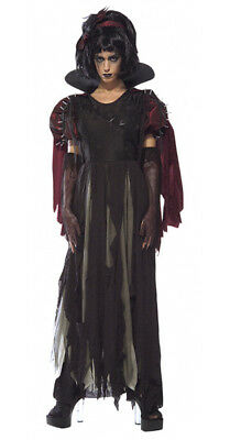 Scary Gothic Costumes (Snow Fright White Gothic Zombie Scary Adult)