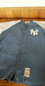 Authentic Vintage NY 1961 Mirage Cooperstown baseball shirt