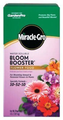 Miracle-Gro Water Soluble Bloom Booster Flower Food, 10-52-10, 4 -