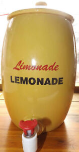 "13""  Yellow LEMONADE LIMONADE DISPENSER JUG CROCK Windsor Region Ontario image 1"