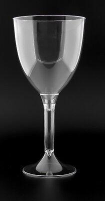 20 Einweg Weingläser 200 ml mit transparenten Fuß, Plastikbecher Trinkbecher