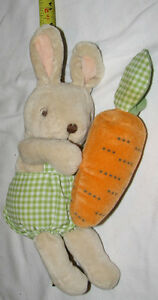 Bunny with Rattle Carrot Plush Stuffed Toy