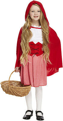 Red Riding Hood Outfit (Kids Little Red Riding Hood Fancy Dress Costume Storybook Outfit Book Week)