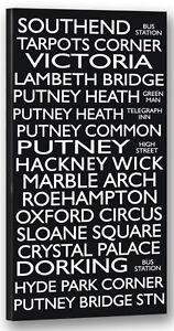 Southend-Hackney-Putney-Destination-Bus-Blind-Framed-Canvas-Print