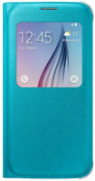 Official Samsung S View Cover (PU) for Galaxy S6, Blue/Green