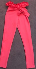 Pretty little thing size 6 trousers coral