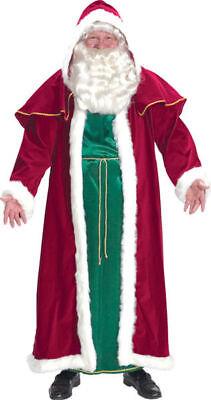 Morris Costumes Men's Polyester Velvet Hooded Robe Santa Victorian Suit. AE7755
