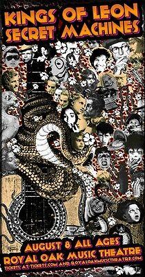 Oak King Poster (KINGS OF LEON ROYAL OAK THEATRE 2005 CONCERT  POSTER)