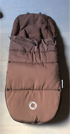 Bugaboo Brown footmuff cosy toes sleeping bag