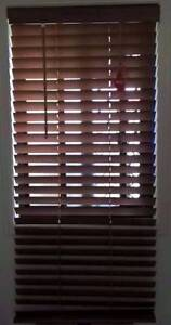 Brown 50mm Slat Timber Venetian Blinds 600x1380mm - AS NEW Deception Bay Caboolture Area Preview