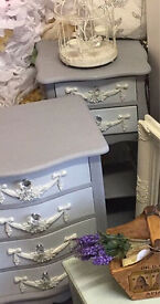 'His & Hers' French Louis style bedside tables
