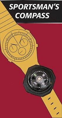 Black Sportsman Watch Band Wrist Compass