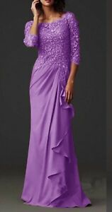 Lavander formal dress. Mother of the bride dress