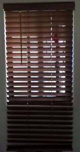 Brown 50mm Slat Timber Venetian Blinds 600x1380mm Deception Bay Caboolture Area Preview