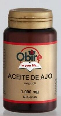 ACEITE AJO 1000mg 60 PERLAS OBIRE (antibiotico natural,colesterol,diabetes,gripe