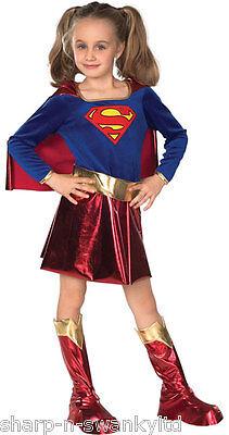 Mädchen Supergirl Powerfrau Superheld Buch Tag Woche Verkleidung Kleid Kostüm ()