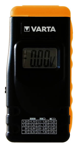 VARTA LCD Digital Battery Tester Blister DHL Versand