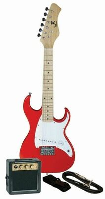 J. Reynolds Childrens/Kids Mini-Electric Guitar Prelude Package - Red