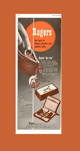 1947 half-page, 2-color ad for Rogers Tobacco Pouch