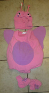 Old Navy fleece butterfly costume, size 6 - 12m