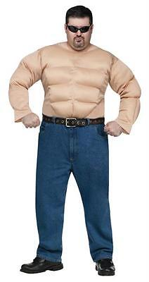 MUSCLE MAN SHIRT ARMS PUMPED BODY COSTUME SHIRT PLUS SIZE  FW1071](Muscle Arms Costume)