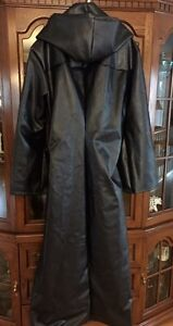 Trench pleather coat
