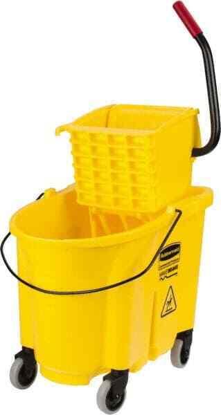 "Rubbermaid 35 Qt Plastic Bucket & Wringer 20.1"" Long x 17.4"" High x 15.7"" Wid..."