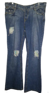 Factory Distressed Jeans - Size 13 - 15