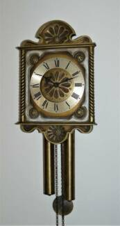 vintage chiming pendulum wall clock