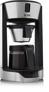 BUNN HG 8 Cup Phase Brew Coffee Maker Black and Stainless Brewer