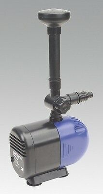 Sealey WPP2300 Submersible Pond Pump 2300Ltr/Hr 230V Garden Garage Outdoor