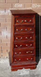 antique solid timber chest of drawers for sale