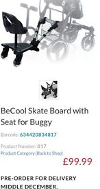 Buggy board with seat