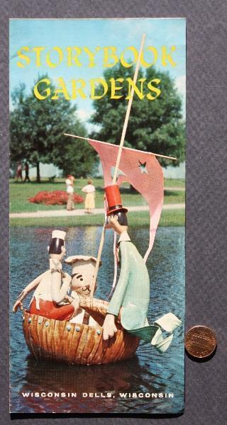 1960s Era Wisconsin Dells Storybook Gardens brochure- Head of Happy Clown- RARE!