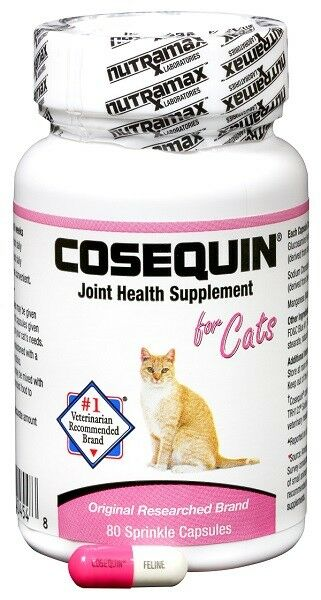 Nutramax Cosequin for Cats Original Flavor 80 Sprinkles Capsule Joint Supplement