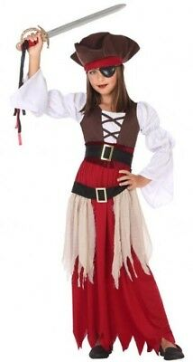 Costume Pirate Girl Caribbean 10/11/12 Years Child Movie New Cheap - Cheap Girl Pirate Costumes
