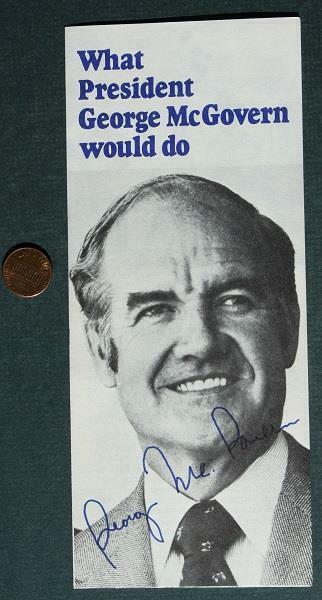 1972 South Dakota Senator George McGovern for President signed brochure-SCARCE!