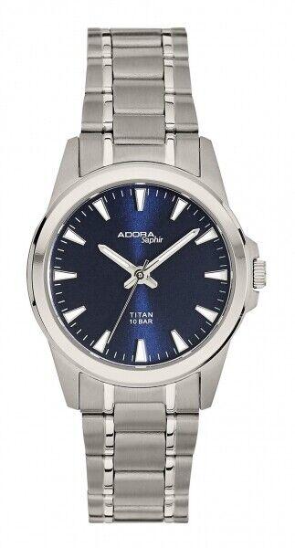 Adora Damenuhr Uhr Titan Saphirglas Blau 10BAR 30mm AS4555