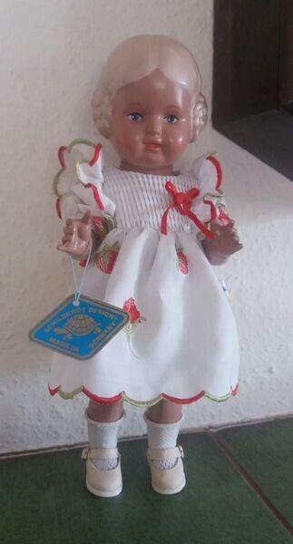 Schildkröt Puppe Bärbel Gr. 25 unbespielt mit Original Kleidung