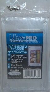 FROSTED with DIAMOND CORNERS ... Ultra Pro screwdowns .. ON SALE