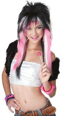 Rave Candy 80's Rock Star  Adult Costume Wig   (80 Rock Star Costume)
