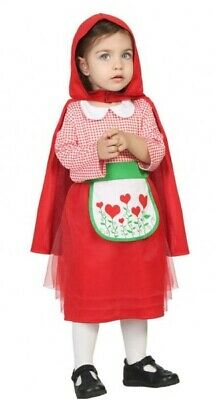 d Riding Hood World Book Day Fancy Dress Costume Outfit (Baby Little Red Riding Hood Kostüm)