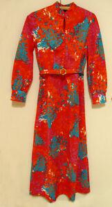 Robe vintage psychédélique avec ceinture
